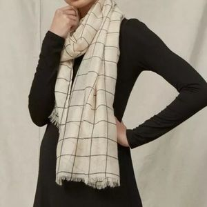 Rachel pally ivory window pane scarf